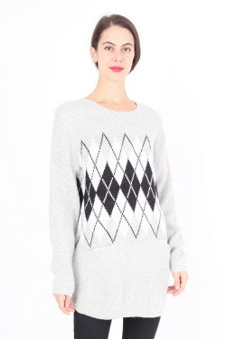 Jumper maille printed  wool mixed
