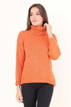 Jumper col rouler  wool mixed