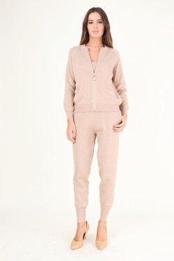 Ensemble 3 pieces gilet debardeur jogging en maille