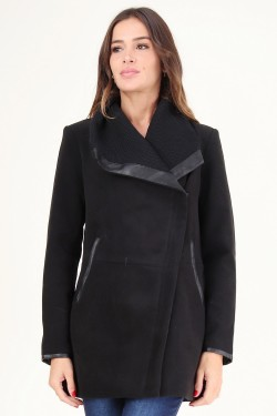 Manteau avec grand col revers