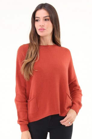Pull oversize en maille col rond