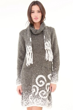 Dress maille printed  wool mixed