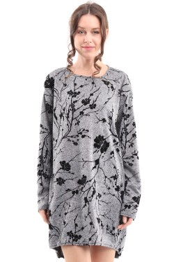 Tunic  maille printed flower