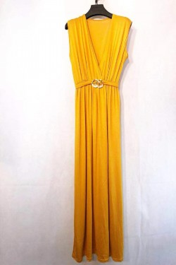 Dress long cache- coeur with boucle