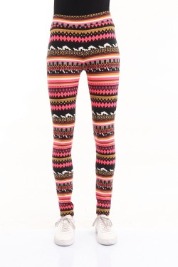 Leggins gainant height-waisted motif fluo