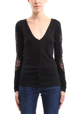 Gilet with sleeves  lace