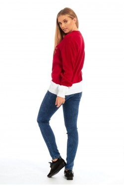 Pull Noël femme ours blanc