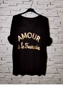 "Fine-knit ""Amour à la française"" sweater, long sleeve"