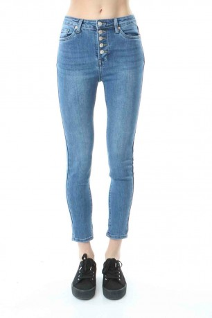 Jeans skinny boutons