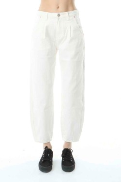 Jeans slouchy blanc