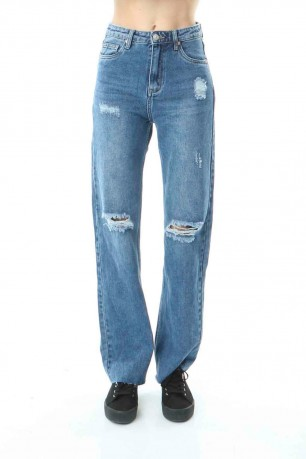 Jeans jambe large