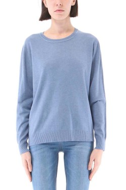 Pull col rond toucher cachemire