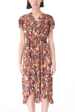 Dress long volants  flower