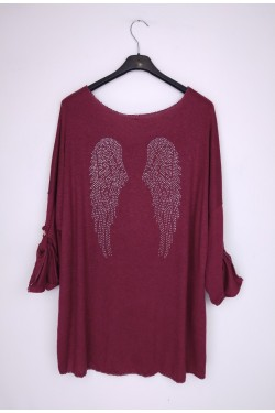 Jumper with aile strass au dos