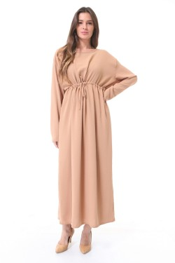 Dress long with lacets