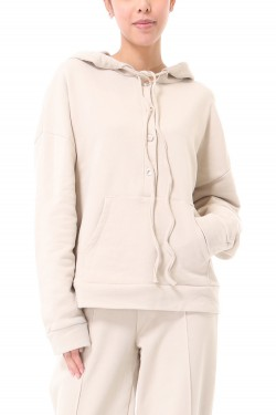 Sweat  hood with boutons  cotton