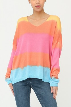 Blouse oversize multicolore