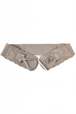 Wide elastic waistband with oval buckle