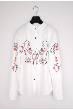 Blouse with fleurs printeds
