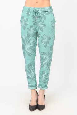 Trouser printed flower