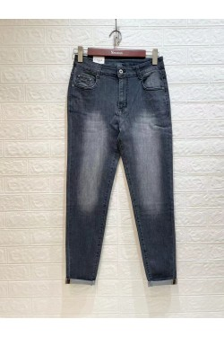 jeans gris grande taille