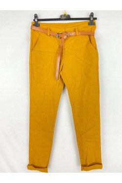 Trouser with belt