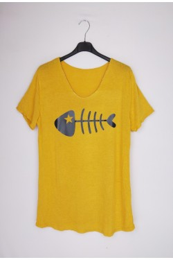 T-shirt with poisson