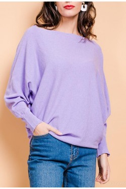 Pull Fin en laine manche souris - 25 couleurs (made in italy)