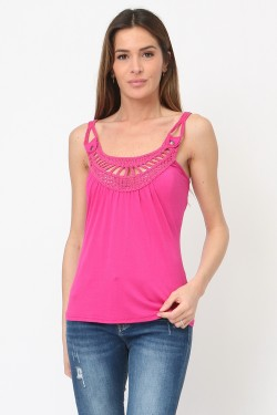 Tank top with crochet