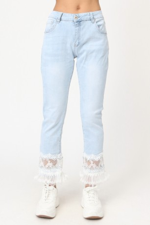 Jean with volants  lace