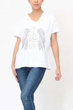 T-shirt with printed  cotton
