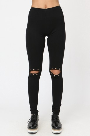 Leggings with oeillets