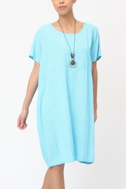 Dress  rayure with necklace