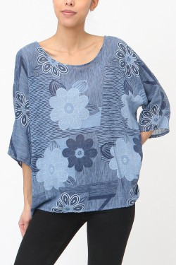 Bouse printed marguerite  cotton brute TU 44/46