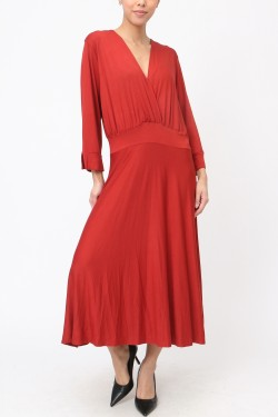 Dress viscose mi-long  sleeves 3/4