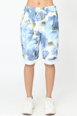 Printed shorts with 2 pockets