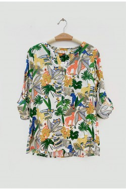 Blouse printed