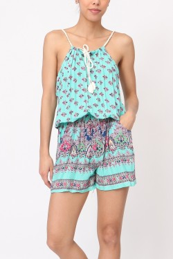 Playsuit printed  cotton