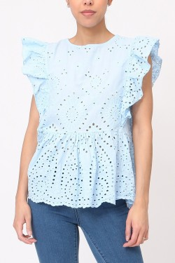 Top  embroidery anglaise