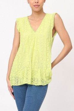Top débardeur  lace cotton