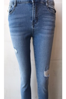 Ripped Push up 7/8 jeans