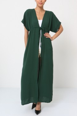 Gilet long with lacet
