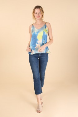 Tank top in tie and dye