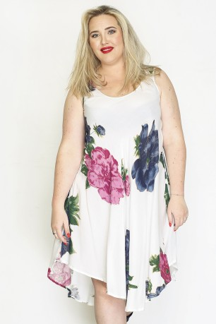 Newly Designed Jenny Artistic Floral Women's Dress Easy and Comfortable to Wear 20-560AA