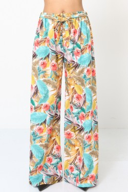 Trouser fluide printed