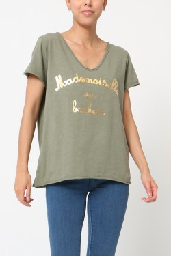 """T-shirt """"mademoiselle  trainers"""""""