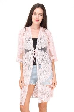 very beautiful, very elegant lace cardigan, a star model for the summer of 2021 large size
