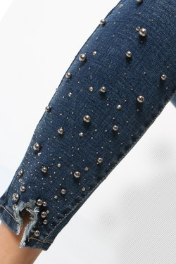7/8 jeans with pearl