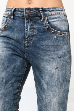 7/8e jeans with ring and star