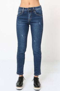 7/8 jeans with side stripes